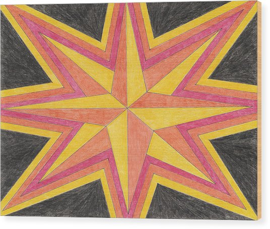 Starburst 2 Wood Print by Eric Forster