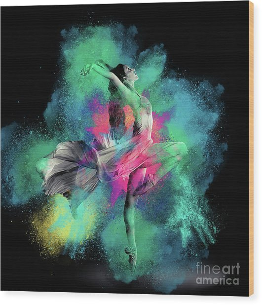 Stardust Dancer Wood Print