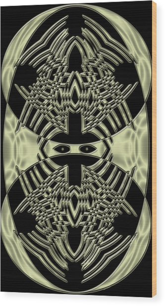 Staring At Me Wood Print by Evelyn Patrick
