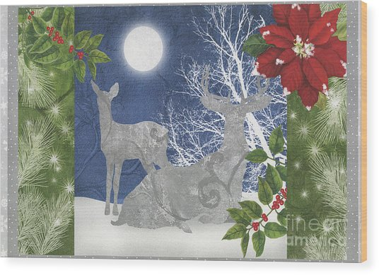 Starlight Christmas Ix Wood Print