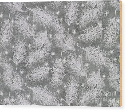 Starlight Christmas Vii Wood Print