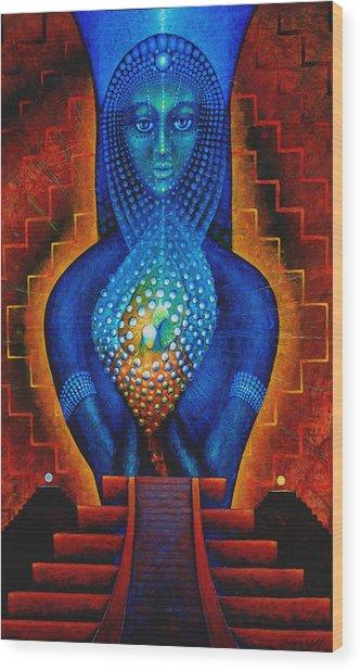 Starlight Temple Of The Dawn Wood Print