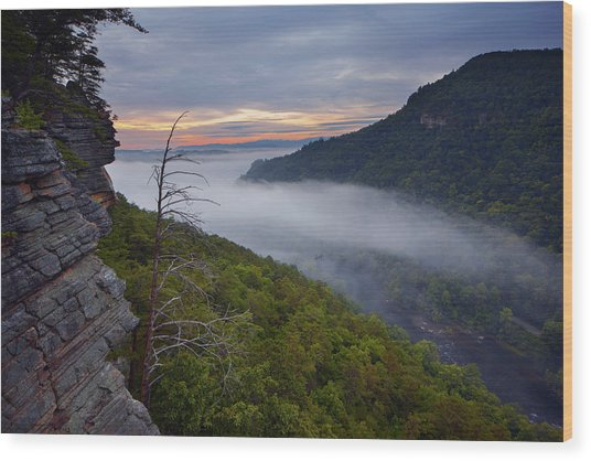 Starr Mountain Sunrise Wood Print