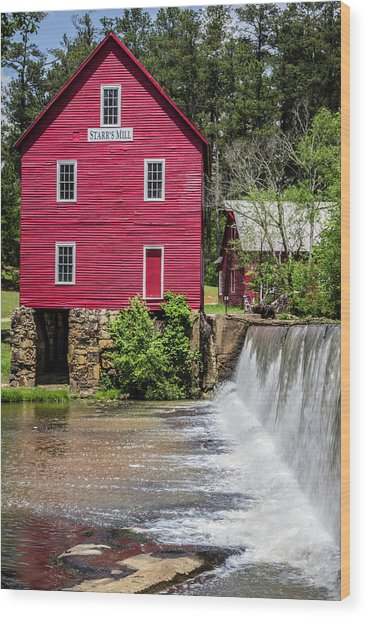 Starr's Mill 1 Wood Print