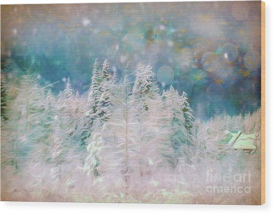Starry Night Wood Print by Jean OKeeffe Macro Abundance Art
