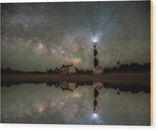 Starry Reflections Wood Print