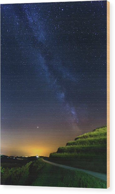 Starry Sky Above Me Wood Print