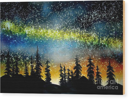 Starry Starry Night Wood Print by Ed Moore