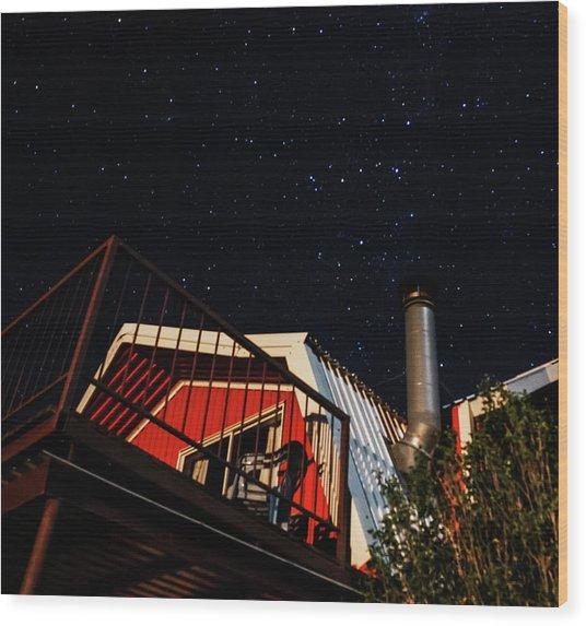 Stars Over Gila Cottage Wood Print