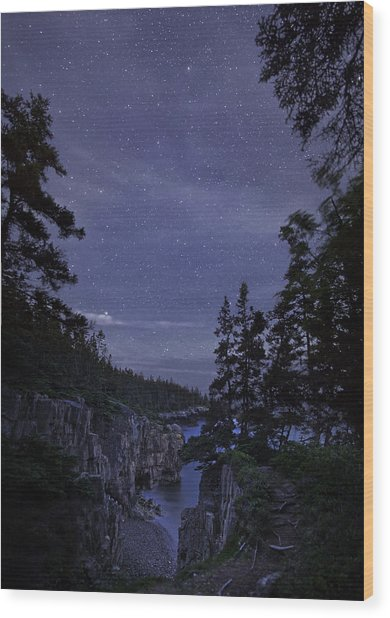 Stars Over Raven's Roost Wood Print
