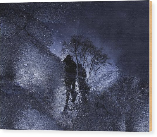 Stars Walking Wood Print