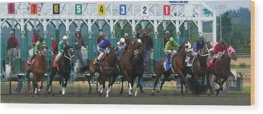 Starting Gate Wood Print