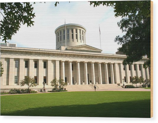 State Capitol Of Ohio Wood Print