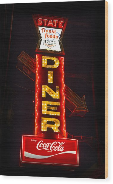 State Diner - Ithaca Ny Wood Print