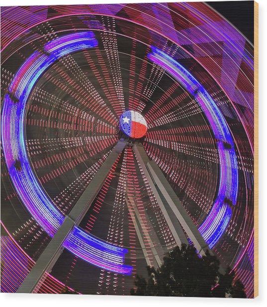 State Fair Of Texas Ferris Wheel Wood Print