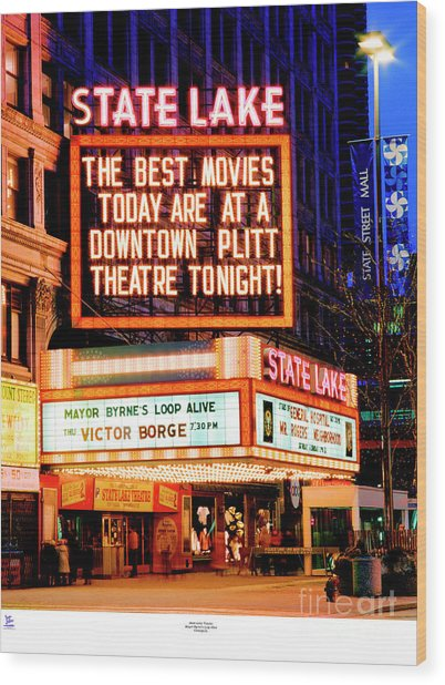 State-lake Theater Wood Print