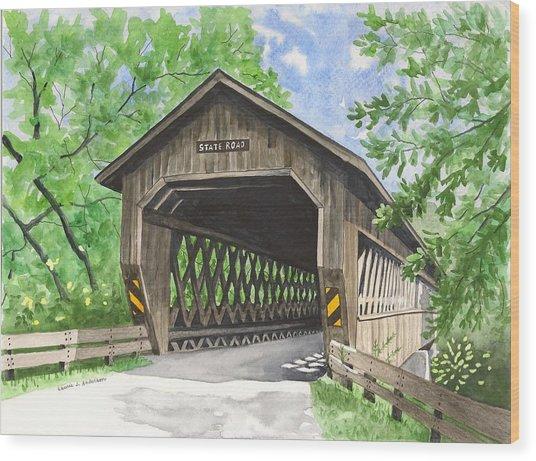 State Road Bridge Wood Print