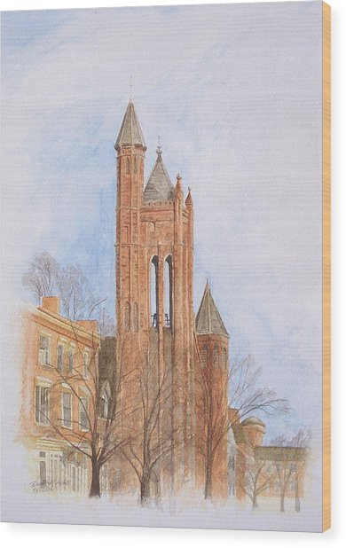 State Street Church Wood Print