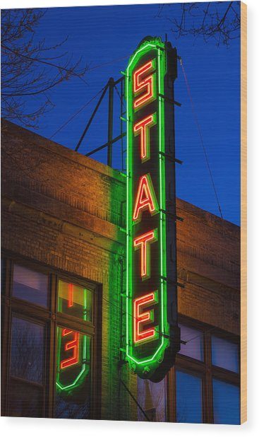 State Theatre - Ithaca Wood Print