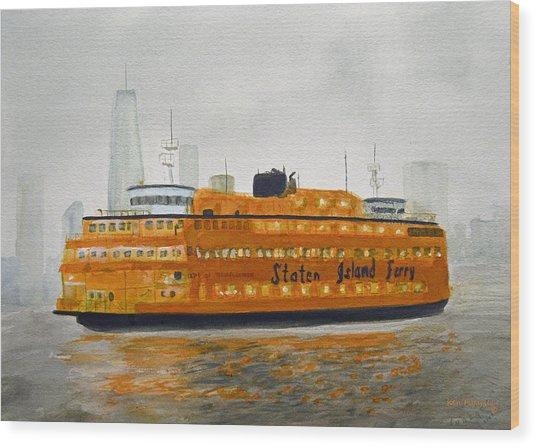 Staten Island Ferry Wood Print