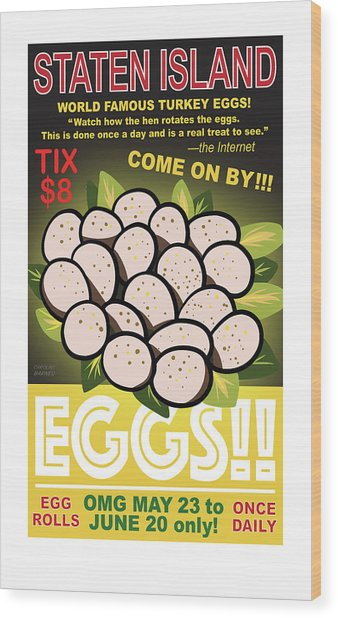 Staten Islands Eggs Wood Print