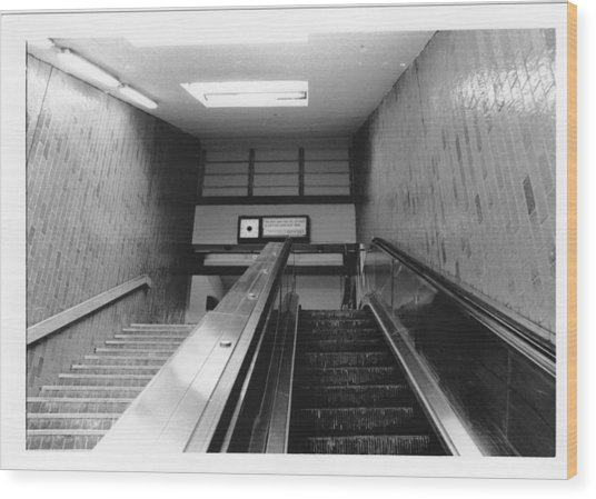 Station Stop  Wood Print