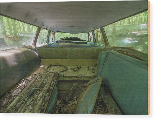 Station Wagon In Color Wood Print