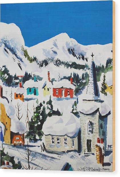 Ste. Saveur Quebec Wood Print