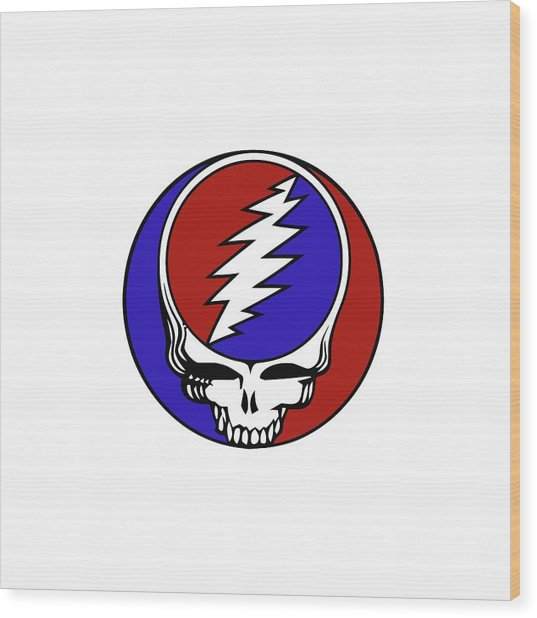 Steal Your Face Wood Print