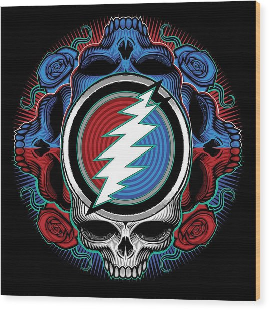 Steal Your Face - Ilustration Wood Print