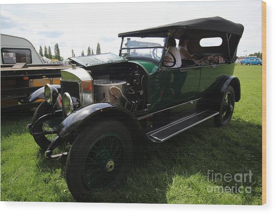 Steam Car Wood Print