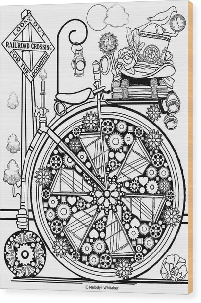 Steam Cycle Wood Print