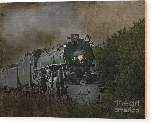 Steam Engine 261 Wood Print