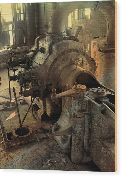 Steam Engine No 4 Wood Print