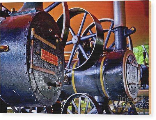 Steam Engines - Locomobiles Wood Print