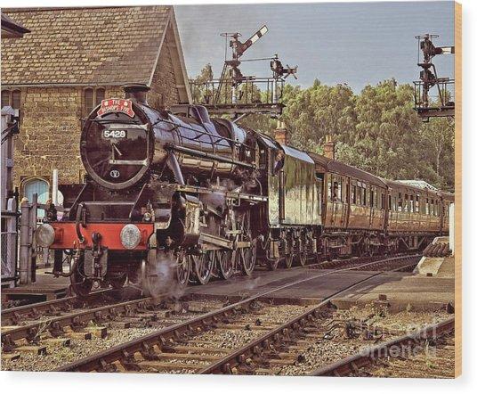 Steam Loco On Yorkshire Railway Wood Print