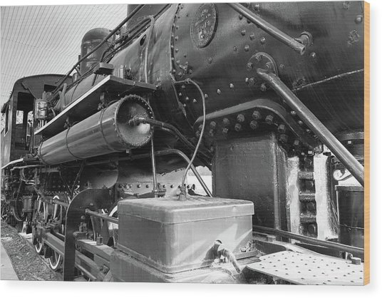 Steam Locomotive Side View Wood Print