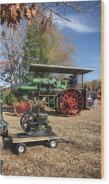Steam Tractor Wood Print by Kevin  Sherf