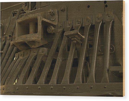 Steam Train Cow-pusher Wood Print