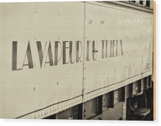 Wood Print featuring the photograph Steam Train Series No 34 by Clare Bambers