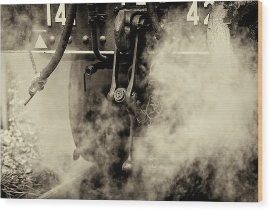 Wood Print featuring the photograph Steam Train Series No 4 by Clare Bambers