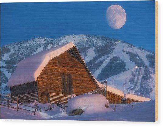 Steamboat Dreams Wood Print