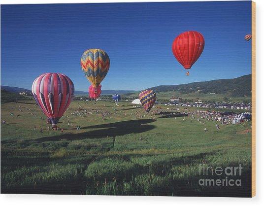 Steamboat Springs Balloon Festival Wood Print