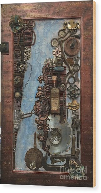 Steampunk 1 Wood Print
