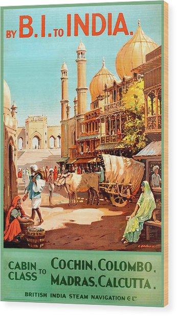 Steamship Cruise To India Wood Print