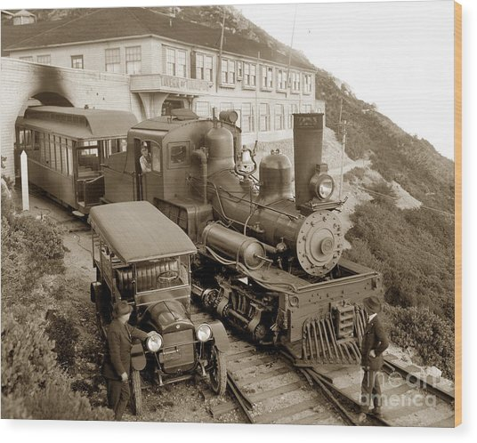 Stean Engine No. 8 Mount Tamalpais Circa 1920 Wood Print