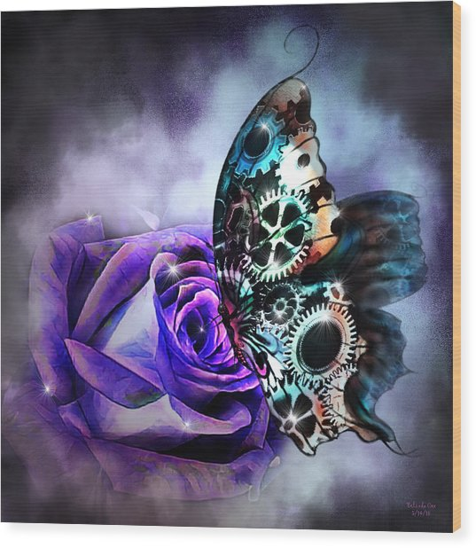 Steel Butterfly Wood Print