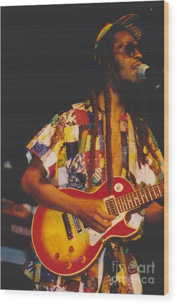 Steel Pulse Frontman David Hinds Wood Print