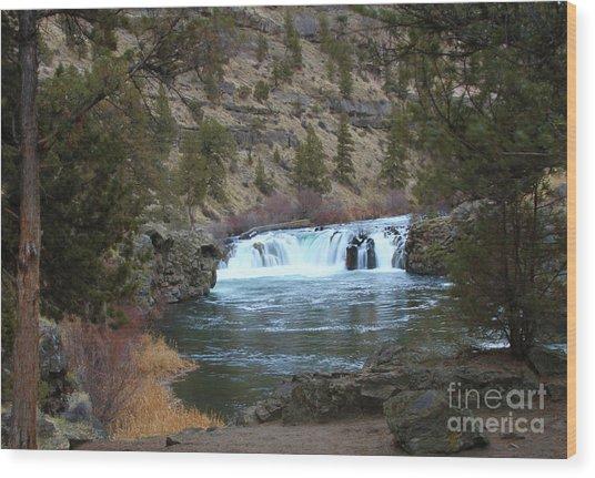 Steelhead Falls Wood Print