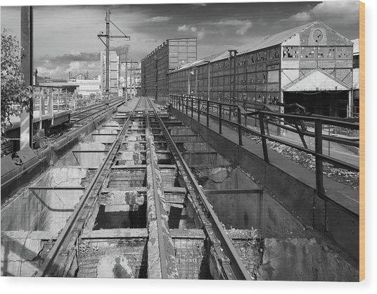 Steelyard Tracks 1 Wood Print